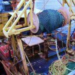 stern view showing the deck of the deborah, now renamed Oor Lassie