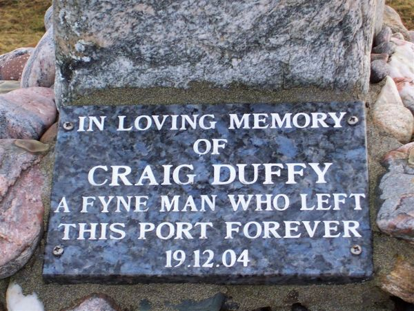 Craig Duffys Memorial cairn