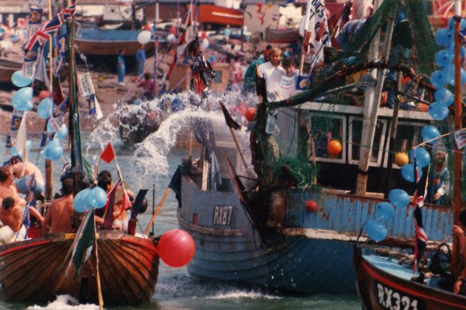 Boat race day in hastings 1988