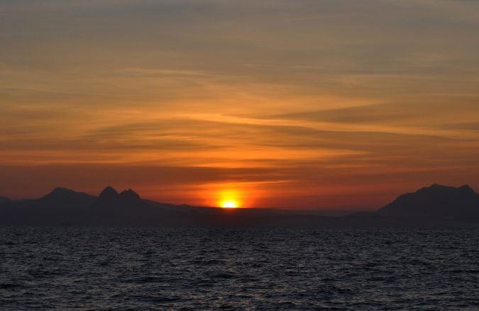 Sunrise over North West Scotland