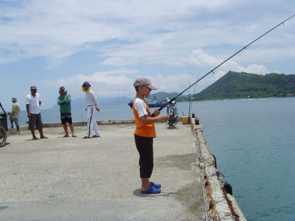 Jamie - wee jura fishing in Philippines