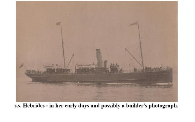 ss Hebrides - early days