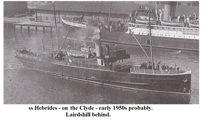 ss Hebrides in the 1950s on the Clyde