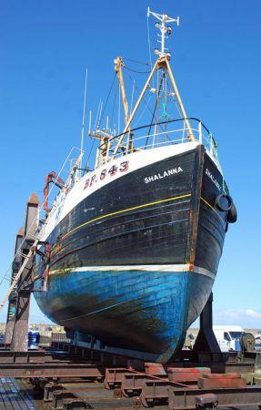 Shalanna - BF843 on Fraserburgh Ship Lift