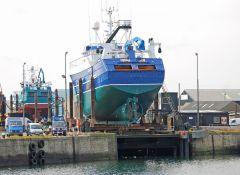 Audacious - BF83 on Fraserburgh Ship Lift