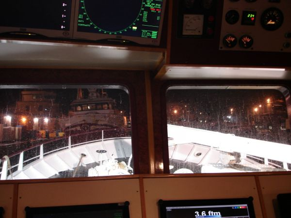 New Year Trip- view from wheelhouse