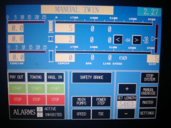 New Year Trip- Autotrawl control screen