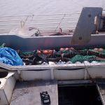 Rockhopper gear aboard stern trawler Canada
