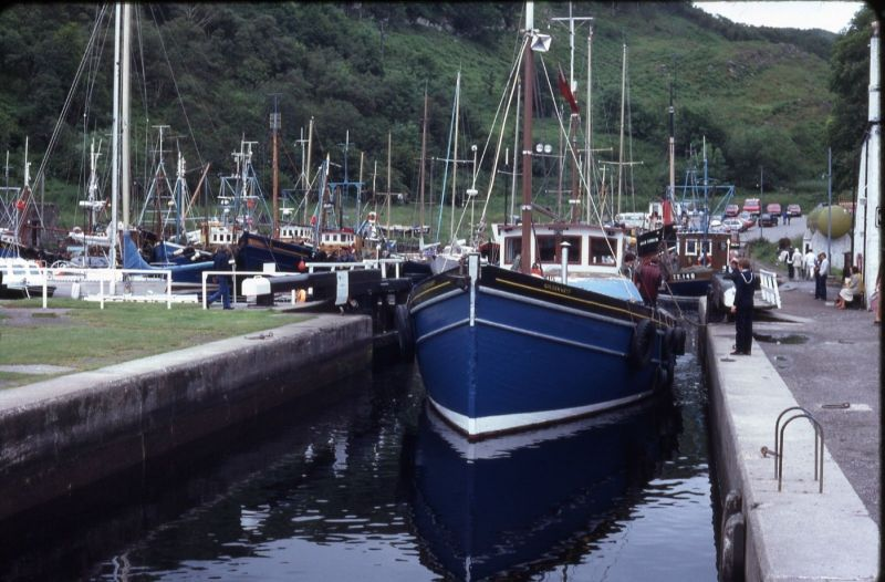 Golden West coming out of Crinan 1980s