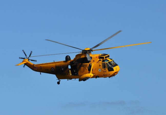 RAF Lossiemouth Rescue Helicopter