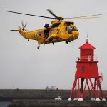 RAF Boulmer Helicopter