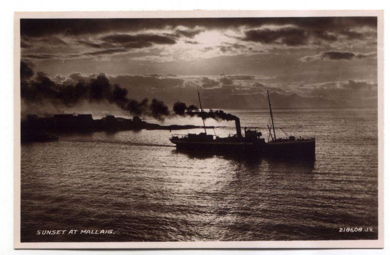 Mystery ship leaving Mallaig