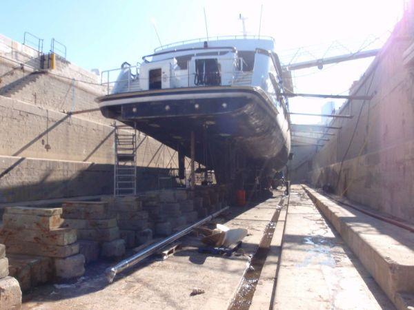 Elisabeth F dry docked in Marseille