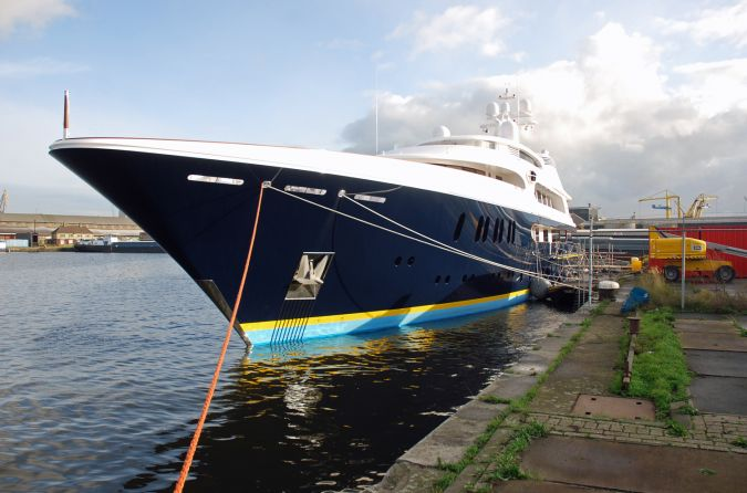 Luxury Yacht in for Fitting Out