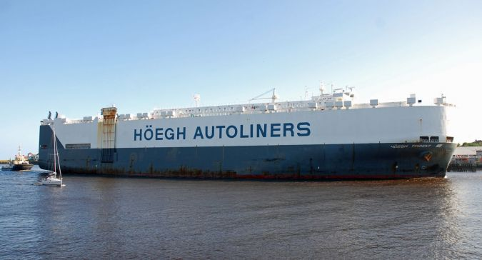 HOEGH TRIDENT - Car Carriers - Gallery - TrawlerPictures net