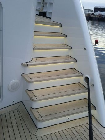 Aft stairs LED strips