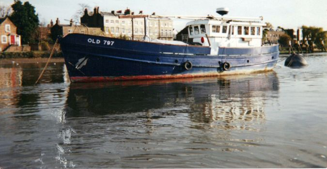 Old 797 When the Sea Scouts had finished with her at Kew on the Thames