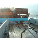 Pacific Worker Backing in to attach towline