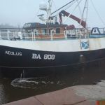 Aeolus BA808 - lying waiting to get in the sea lock