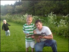 me and the young lad fishing