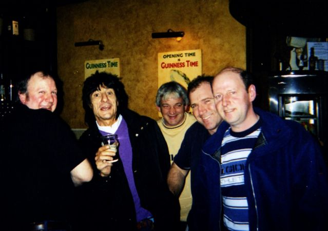 Ronnie Wood Press Ganged