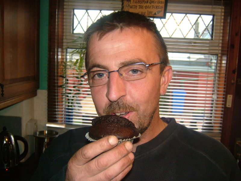 Robbie and his Chocolate muffin