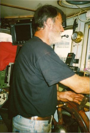 Dad in wheelhouse