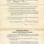 Radio certificate