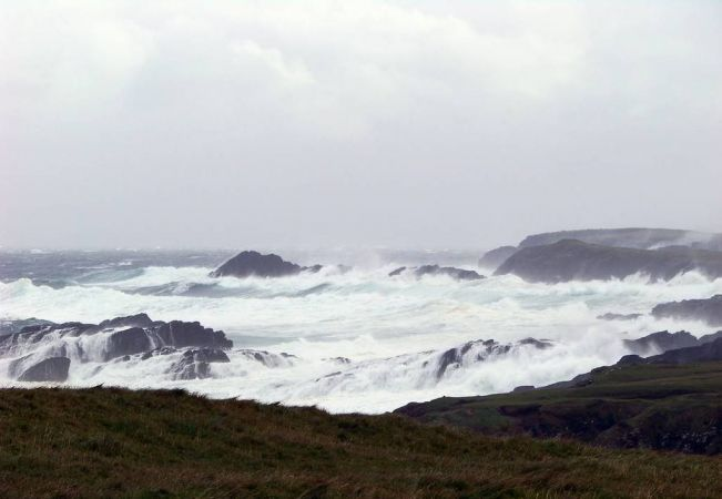 Wild day at Butt of Lewis