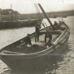 Boat in Dunure harbour