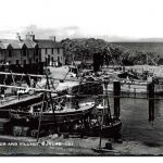 Boats in dunure harbour