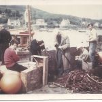 Mending Nancy Glen's ring net Tarbert