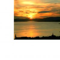SUNSET OVER LARGS