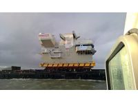 superstructure of new aircraft carrier