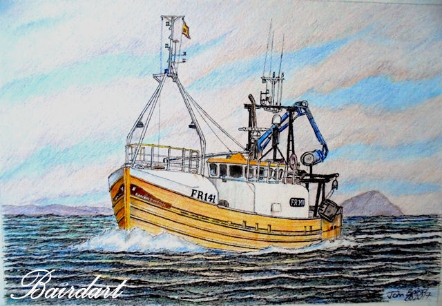 RADIANT MORN FR.141 A rare commission these days and a welcome one RADIANT MORN FR.141 , for John McPhee Campbeltown, Thanks John for asking me to draw your boat