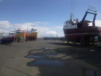 Boats out At Ardrossan for Painting