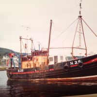 Unity at Tarbert before off for conversion.