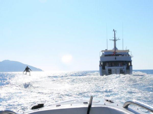 Elisabeth F, expensive wake board boat....